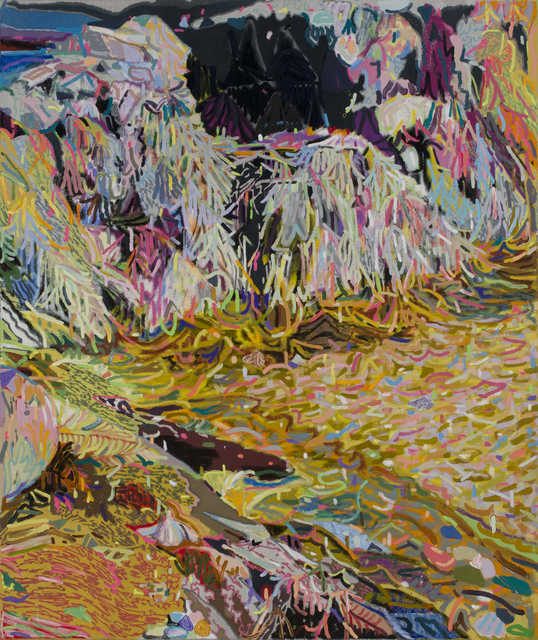 Leon Benn, 'Tidal Pool No. 3 (Kettle Cove, Maine)', 2019, Painting, Oil, oil pastel, acrylic, and fabric dyes on Moroccan linen, David B. Smith Gallery