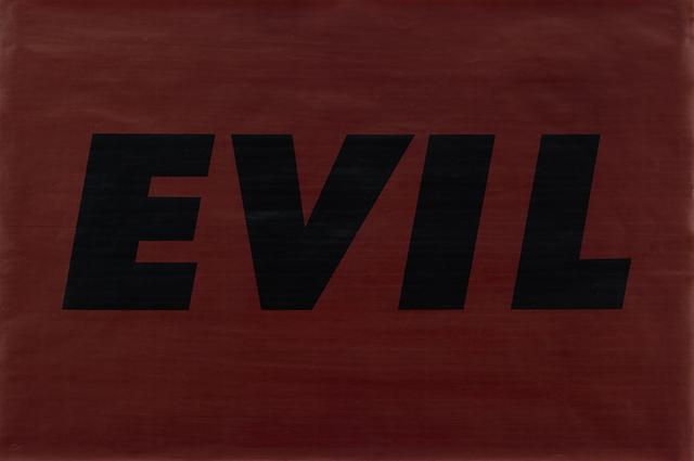 Ed Ruscha, 'Evil', 1973, Susan Sheehan Gallery