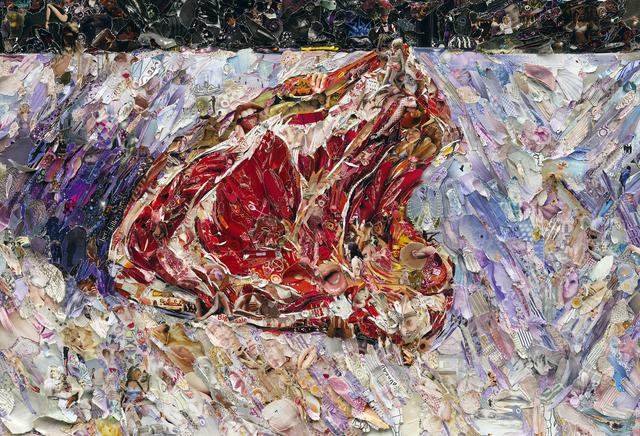 Vik Muniz, 'Pictures of Magazine 2: Rib of Beef, after Gustave Caillebotte', 2012, Galeria Nara Roesler