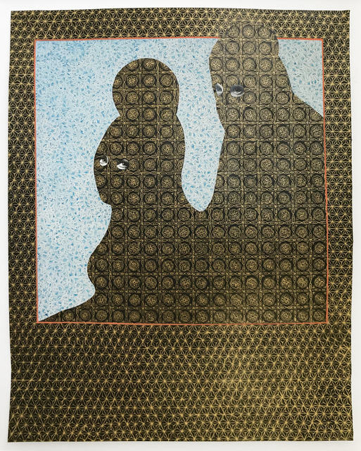 Alexander Gorlizki, 'Untitled', 2007, Mixed Media, Gouache and gold pigment on photograph, Children's Museum of the Arts Benefit Auction