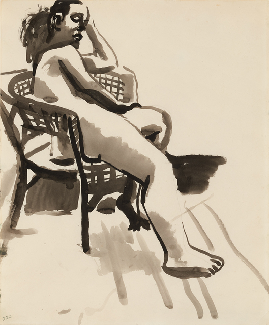 , 'Nude in Chair,' ca. 1955, Brian Gross Fine Art