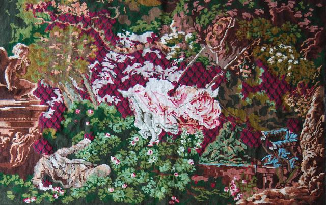 Matt Smith (British), 'After Fragonard', 2021, Textile Arts, Reworked textile with wool, Cynthia Corbett Gallery