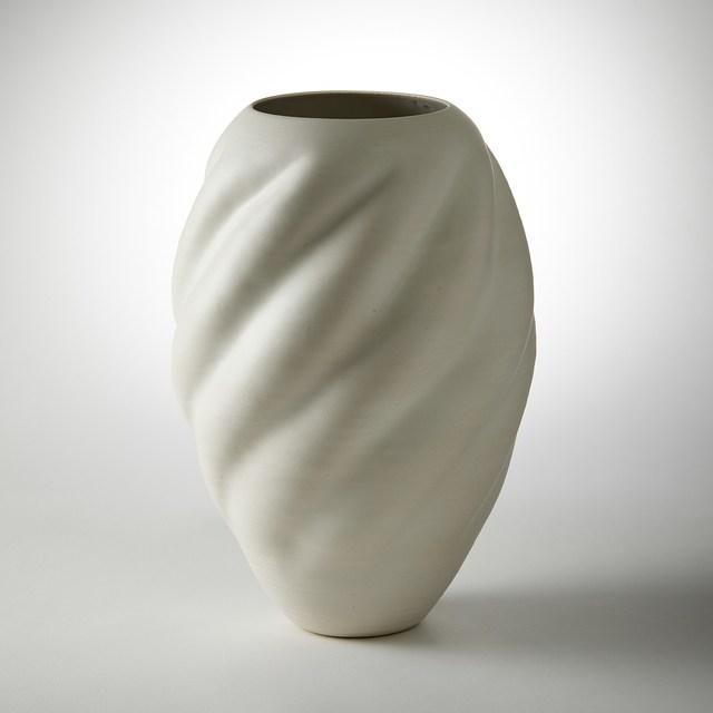 Nicholas Arroyave-Portella, ' Tall White wave Form No 44', 2021, Sculpture, White St.Thomas clay with stoneware glazes, Vessel Gallery
