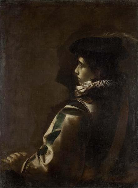 Mattia Preti, 'Youth in the Plumed Hat', ca. 1630-36, Davis Museum
