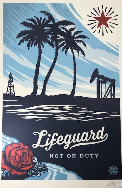 Shepard Fairey, 'Life Guard On Duty', 2016, Posters, Offset print, New Union Gallery