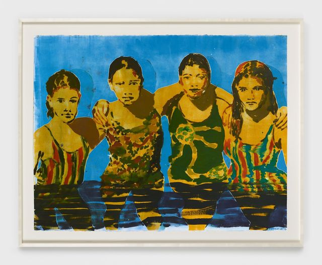 , 'The Swimmers (blue),' 2019, Night Gallery