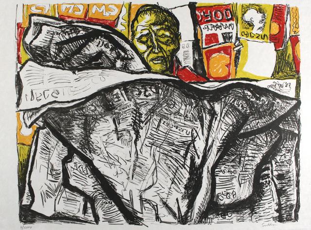 , 'Uomo con giornale / Man with Newspaper,' 1965, Sylvan Cole Gallery