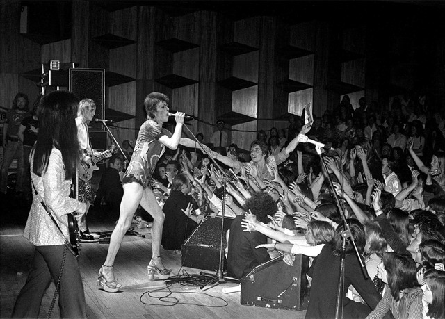 , 'Bowie Reaching into Crowd,' 1973, TASCHEN