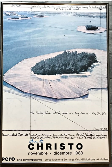 Christo, 'Surrounded Islands, Pero Arte Contemporanea, Milano (Signed) with special provenance', 1983, Alpha 137 Gallery