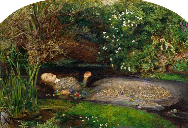 Sir John Everett Millais, 'Ophelia', 1851-1852, Painting, Oil on canvas, Art History 101