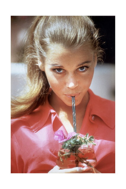, 'Jane Fonda with straw, Beverly Hills, 1963 ,' 1963, ElliottHalls