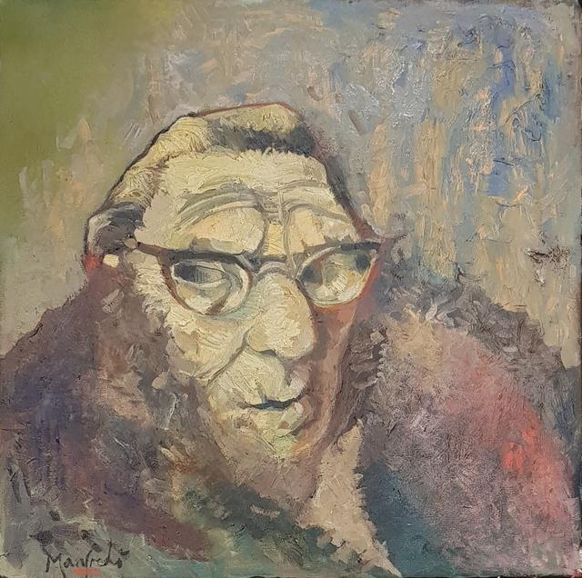 , 'Old Woman in Wool Coat,' 2018, Barewall Art Gallery