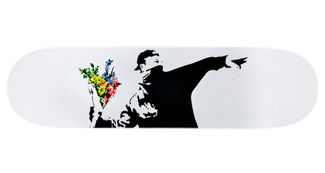Banksy, 'Flower Bomber Brandalism skate deck', ca. 2017, EHC Fine Art: Essential Editions IX