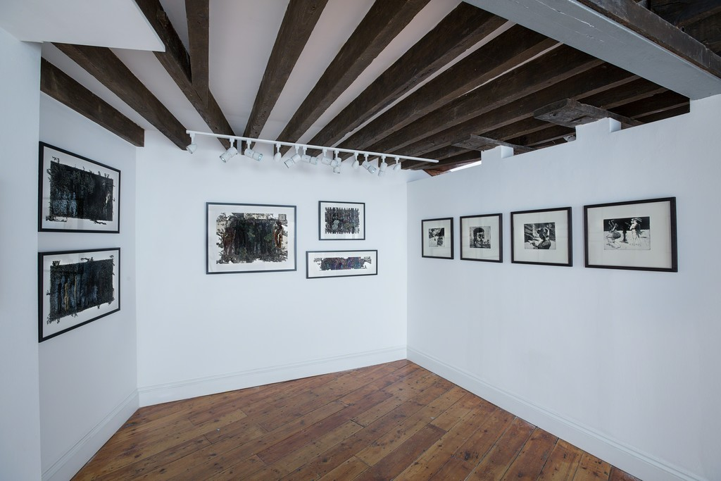 Gallery installation, Yvonne Crossley and Marcelle Hanselaar in Creative Fury (photography by Danny Loo)