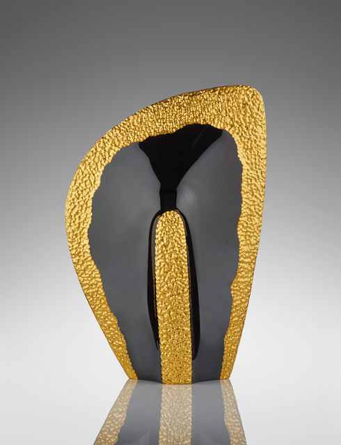 Michael Behrens, 'Phoenix 02-19', 2019, Sculpture, Kiln Casted Glass, Black Crystal and Gold Leaf, HABATAT