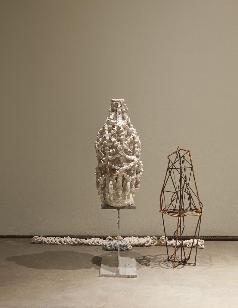 Installation view, ektor garcia: cadena perpetua, SculptureCenter, New York, 2019. Photo: Kyle Knodell