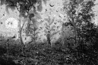 , 'Fields of Sight: Scenes from Ganjad (in collaboration with Rajesh Vangad) Moonlight in the Forest,' 2013, Nature Morte