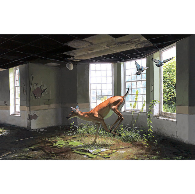 "Josh Keyes, '""Faun In The Afternoon""', 2016, New Union Gallery"