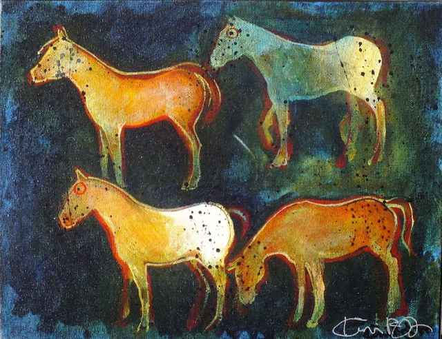 , 'Crow Indian War Ponies,' , Sorrel Sky Gallery