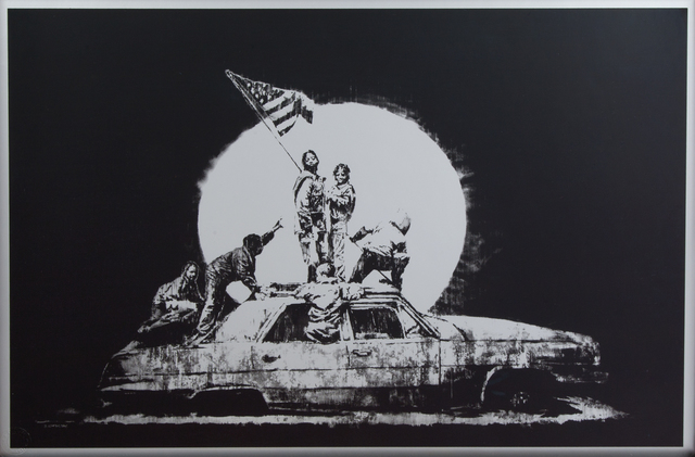 Banksy, 'Silver Flag', 2006, Julien's Auctions
