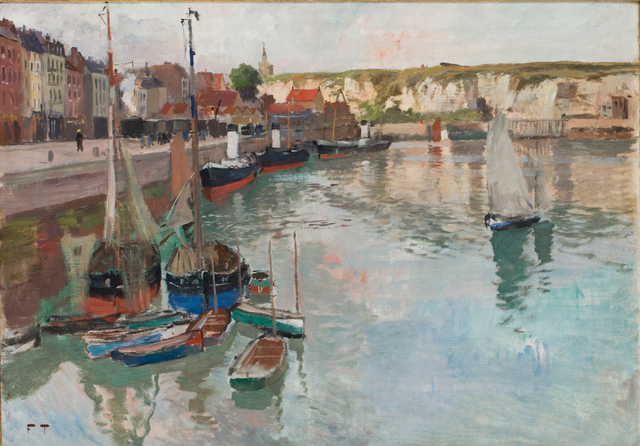 , 'The harbour in Dieppe,' ca. 1894, CFHILL