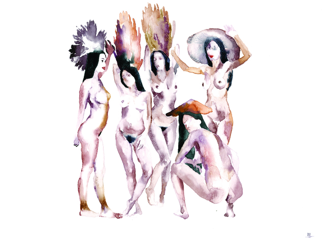 , 'Mushrooms-prostitutes,' 2015, SABSAY