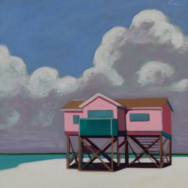 , 'Stilt House in Pink,' 2016, Caldwell Snyder Gallery