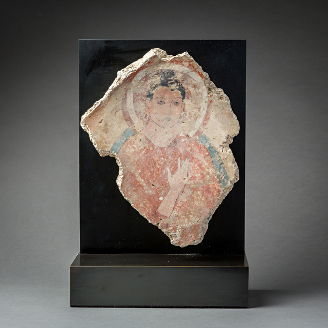 , 'Fragment of a Fresco Depicting the Buddha,' 200 AD to 400 AD, Barakat Gallery
