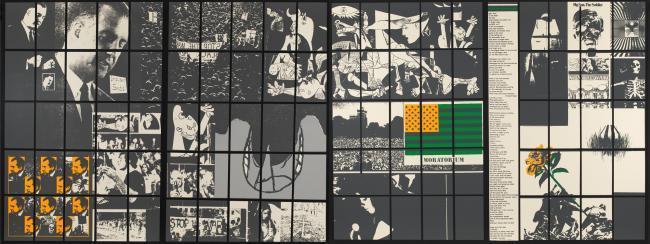 Carlos Irizarry, Moratorium, 1969, screenprint, Smithsonian American Art Museum, Museum purchase through the Luisita L. and Franz H. Denghausen Endowment, 2013.24.1A-B. © 1969, Carlos Irizarry