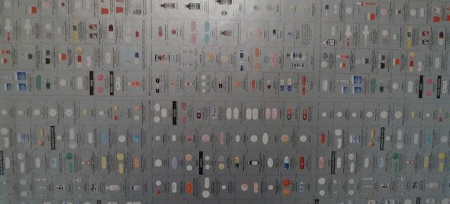 Damien Hirst, 'Pharmacy Silver Wallpaper', 1997, Bengtsson Fine Art