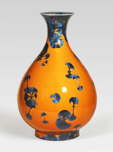 , 'Pear-shaped vase, splash peacock blue glaze with flared lip,' 2014, Pucker Gallery