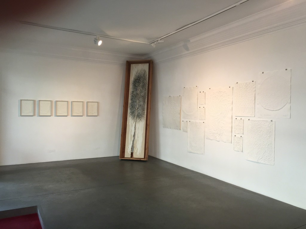 Installation view, Simulacra - Editions by Günther Uecker, Engelage & Lieder, 2017