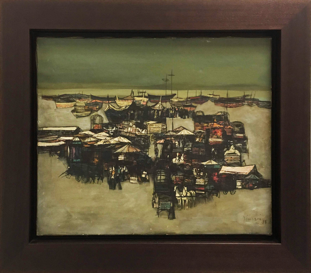 , 'View of a Port,' 1958, Baterbys