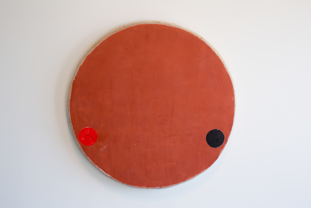 , 'Red Oxide Circle with Red and Black Circles,' 2016, Barry Whistler Gallery