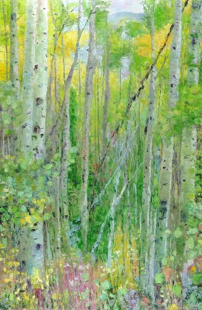 , 'Walk Among the Aspens II,' 2018, Mark White Fine Art