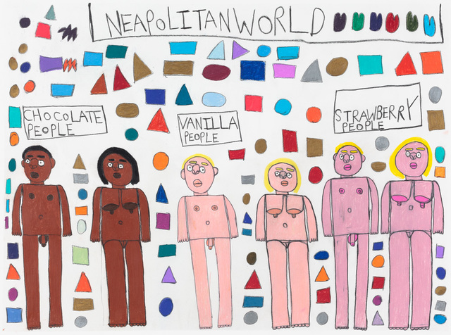 , 'Neapolitan World,' 2017, Creativity Explored