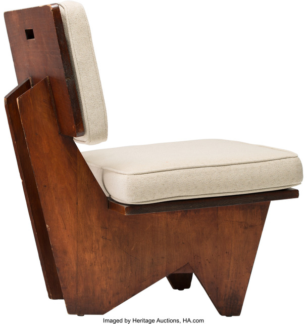 Fabulous Frank Lloyd Wright Lounge Chair From The Winn House Theyellowbook Wood Chair Design Ideas Theyellowbookinfo