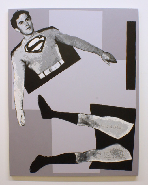 , 'After Malevich (w/ Superman in 3 parts),' 2013, Gastman