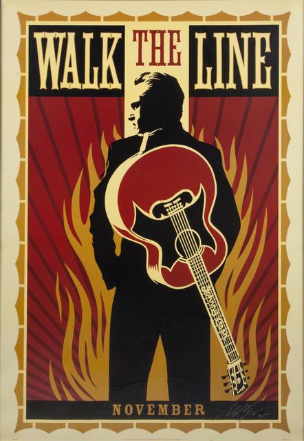Shepard Fairey (OBEY), 'Johnny Cash: Walk the Line', 2005, Julien's Auctions