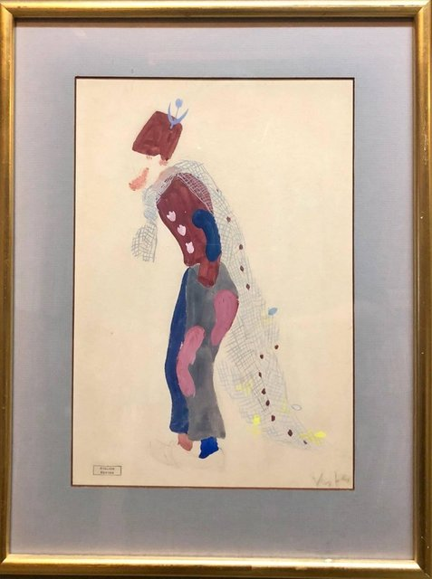 """Marcel Vertes, 'Original Deco Theatre Costume Illustration """"Katinka"""" Gouache Painting, Drawing', 1930-1939, Painting, Watercolor, Gouache, Pencil, Lions Gallery"""