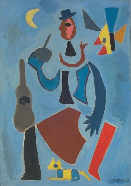 , 'Gaucho bleu a la guitare,' 1955, Galería de las Misiones