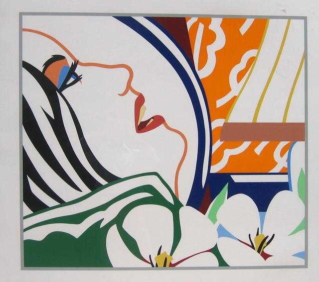 Tom Wesselmann, 'Bedroom Face with Orange Wallpaper', 1987, Print, Screenprint, Gregg Shienbaum Fine Art