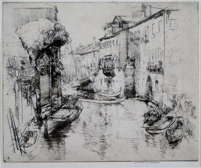 Donald Shaw MacLaughlan, 'The Boat Builders, Venice', 1910, Private Collection, NY