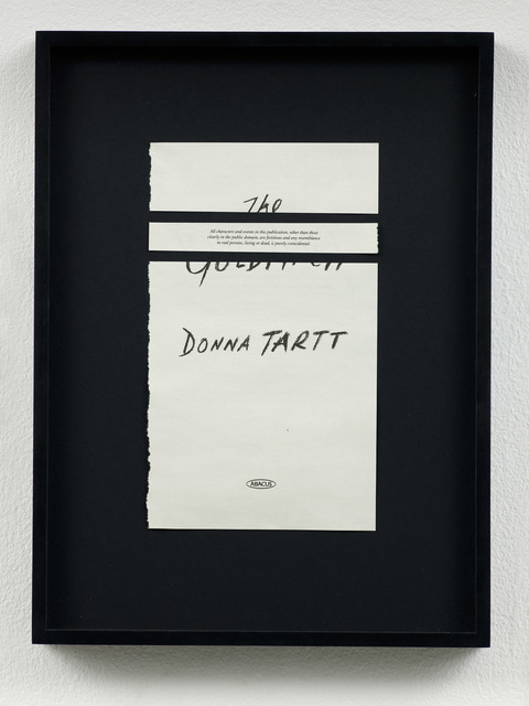 , 'Disclaimers (Donna Tartt: The Goldfinch),' 2014, Galeri NON