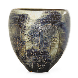Fine large early ovoid vessel with faces