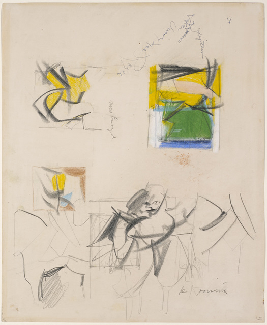 , 'Untitled (Sketches of Women),' 1955, DICKINSON
