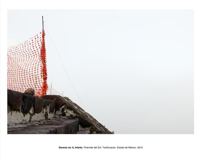 """, 'Deceso no. 6, infarto, Pirámide del Sol, Teotihuacán, Estado de México (from the series """"Forensic Documents""""),' 2013, LaCa Projects"""
