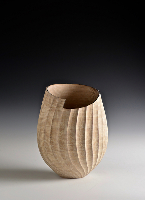 , 'Oak Fluted Vessel,' 2010, Oliver Sears Gallery