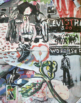 Orestes Hernández Palacios (CU), 'Levi Strauss', 2004, Painting, Mixed Media on Cardboard, Knoerle & Baettig Contemporary