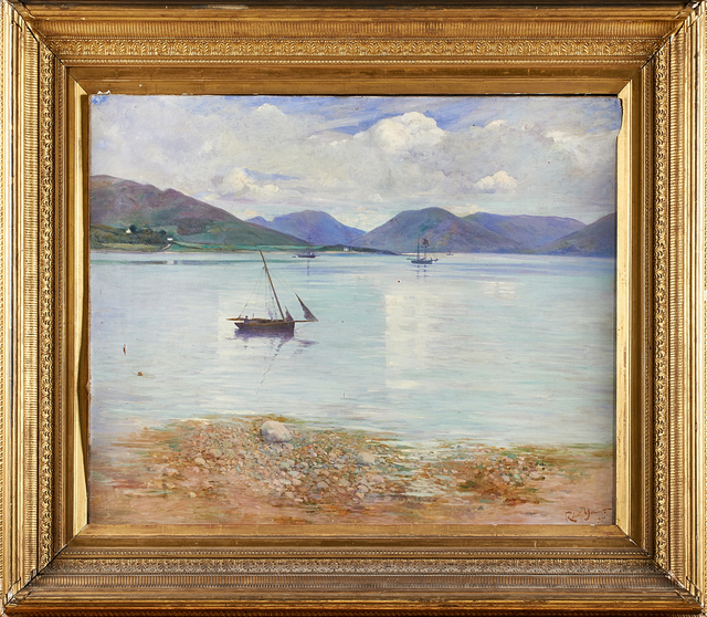 Robert Clouston Young, 'Untitled (Ardmaleish Point, Scotland)', 1895, Painting, Oil on canvas, Rago/Wright